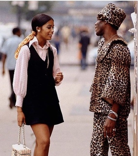 70s, 80s and black couple