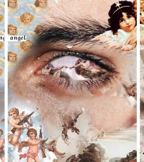 Collage, angelic and angels
