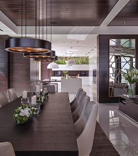 dining room, elegant and modern