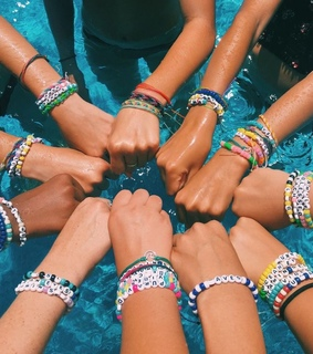 positivity, bracelet and friends