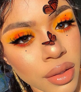 artist, beauty and butterfly