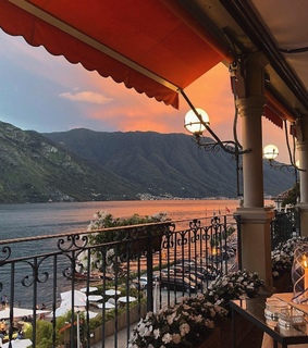 luxury, mountains and restaurant