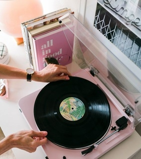 playlist, vintage and pink