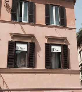 building, dior and shopping