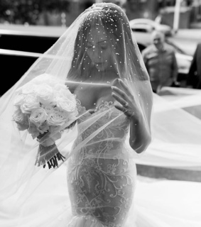 love, veil and wedding bouquet