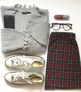 girly, skirts and sweater
