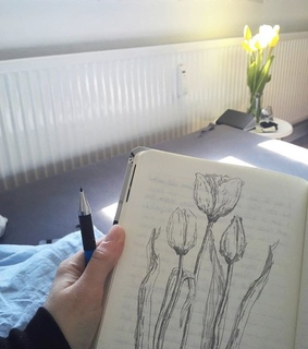 home, journalling and art