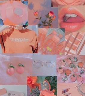peach, peachy and vintage