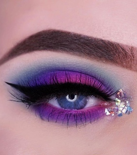 shine, purple and glitter