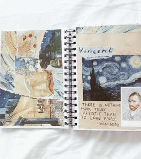 vincent van gogh, journal and photos