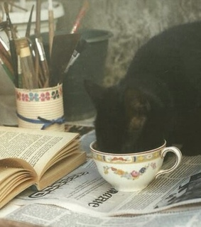 cup, kitten and teacup