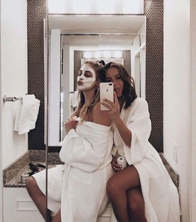 face mask, together and best friends