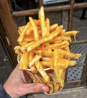 food dream, aesthetic and cheesy fries