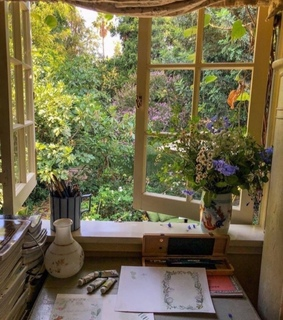 flowers, painting and cottagecore