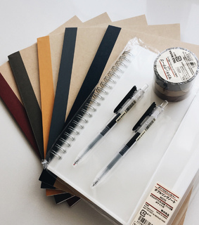 supplies, notes and school materials