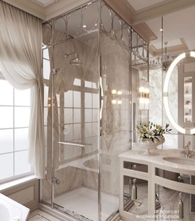 interior design, shower and bathroom