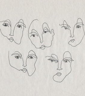 drawing, faces and lines