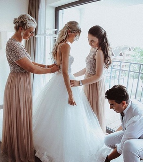 wedding dress backless, tulle wedding dress and wedding dress