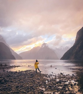 new zealand, beach and mountains