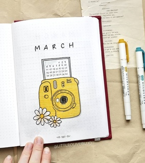 yellow, bujo and march