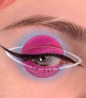 space, eye makeup and eyeshadow