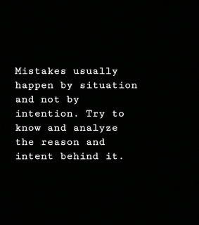 true, mistakes and intent