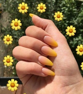yellow, aesthetic and nails