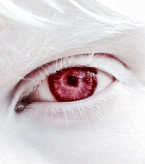 red, red eyes and creepy aesthetic