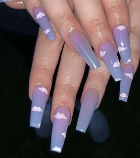 cloud, nails and lavender