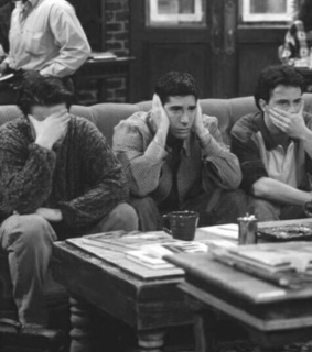 chandler, Joey and friends