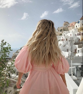 sophie suchan, pink and Greece