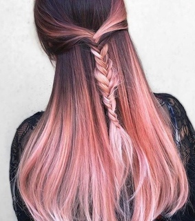 hairstyles, braids and pink