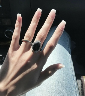 franch nails, nude nails and whi