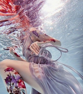 violet, aesthetic and underwater