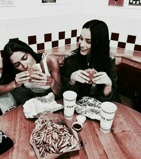 girls, drink and food