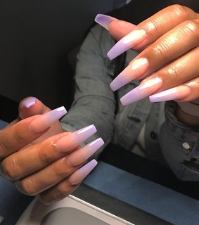 ombre, nails and acrylic
