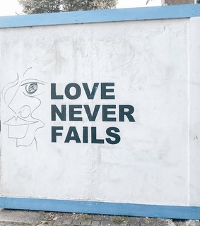 quote, love never fails and aesthetic