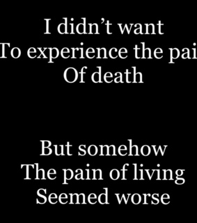 death, living and depression