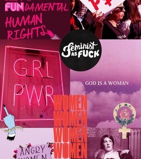 wallpaper, background and feminist