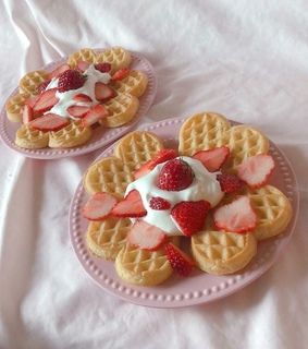 waffle, aesthetic and soft