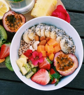 summer, healthy and fruit bowl
