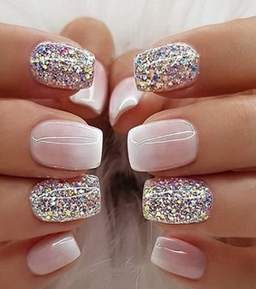 nails, sparkly and designs