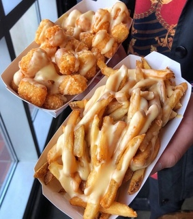 fastfood, fries and cheesefries