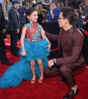tom holland, morgan stark and lexi rabe