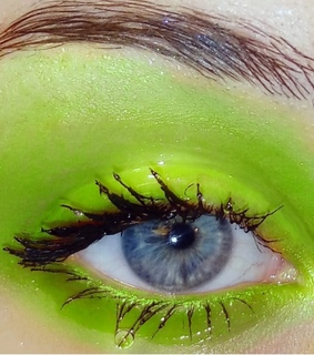lashes, lime and green