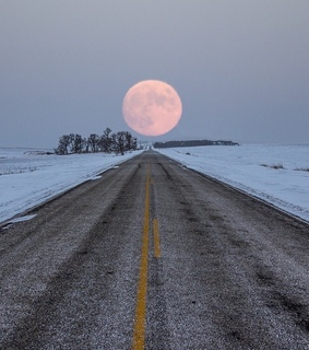 moon, Road Trip and photography