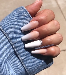 ombre, nails and nailfie