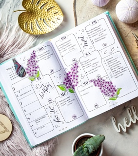 bujo, layout and lilac