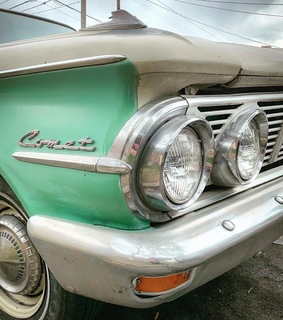 mint, vintage and cars