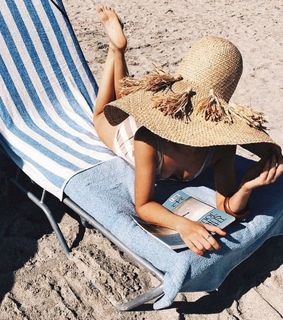 summer, girl and hat